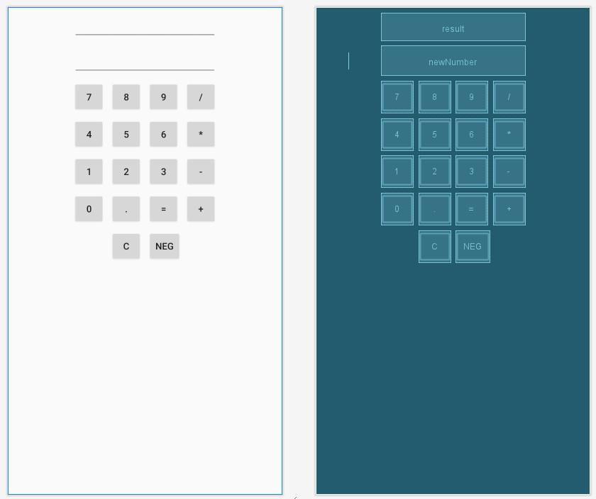 számológép alkalmazás tervezése Android Studio segítségével